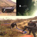 Pasco. Andrea Loyola y Ambrosio Canchari pierden la vida tras despiste y volcadura de vehículo